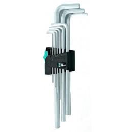 Sada klíčů imbus 1,5-10mm prodloužené bez kuličky WERA