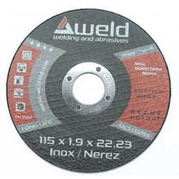 Řezný kotouč 115x1,9   inox AWELD