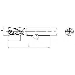 Fréza válcová čelní dlouhá, F141215, 8x38 mm