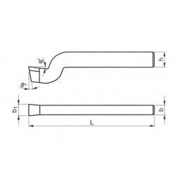 Soustružnický nůž z rychlořezné oceli hoblovací hladící, 223654, 40x25x400 mm