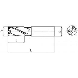 Fréza pro drážky per krátká, souměrná, F240308, 2,8x5 mm