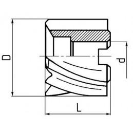 Fréza válcová čelní, hrubozubá, F610973, 63x40 mm