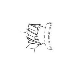 Fréza válcová čelní polohrubozubá, F620973, 160x63 mm