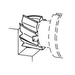 Fréza válcová čelní polohrubozubá, F622275, 50x36 mm