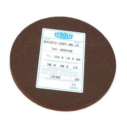 Brousící kotouč plochý elastický, BRUSIVO, 425433 /43373 1527.0015/ - T1 - 150x10x20 mm