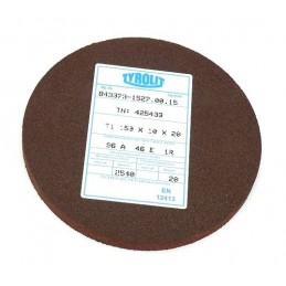 Brousící kotouč plochý elastický, BRUSIVO, 425436 /43373 1537.0015/ - T1 - 150x20x20 mm