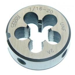 Závitová kruhová čelist HSS, unifikovaný jemný závit, UNF-ZKC, 3/8-24 /246 380/