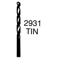 Vrtáky s válcovou stopkou, povlakovaný TiN - střední řada HSS 2931