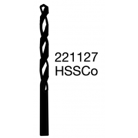 Vrtáky s válcovou stopkou, vysoce výkonný - střední řada HSSCo, 221127