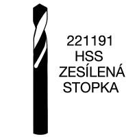 Vrtáky se zesílenou válcovou stopkou - krátká řada HSS, 221191