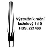 Výstružníky ruční kuželové 1:10 HSS, 221460