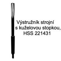 Výstružník strojní s kuželovou stopkou, HSS 221431