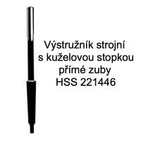 Výstružník strojní s kuželovou stopkou - přímé zuby, HSS 221446