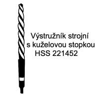 Výstružník strojní s kuželovou stopkou, HSS 221452