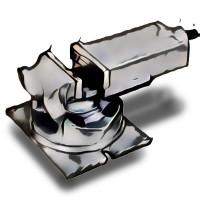 Otočný a sklopný strojní svěrák, 243151