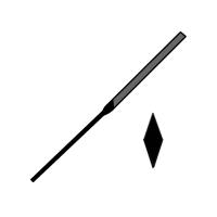 Pilník jehlový mečový