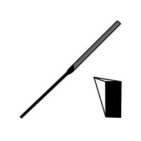 pilník jehlový plochošpičatý