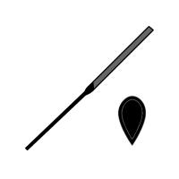 Pilník jehlový slzičkový