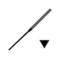 Pilník jehlový tříhranný