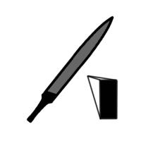 Pilník precizní-plochošpičatý-PPW
