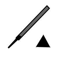 Pilník precizní-tříhranný