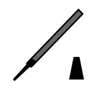 Pilník prcizní-nožový